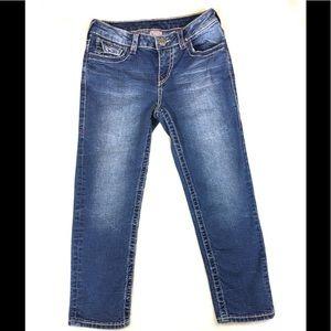 True Religion Big T Capri Jeans Size 12